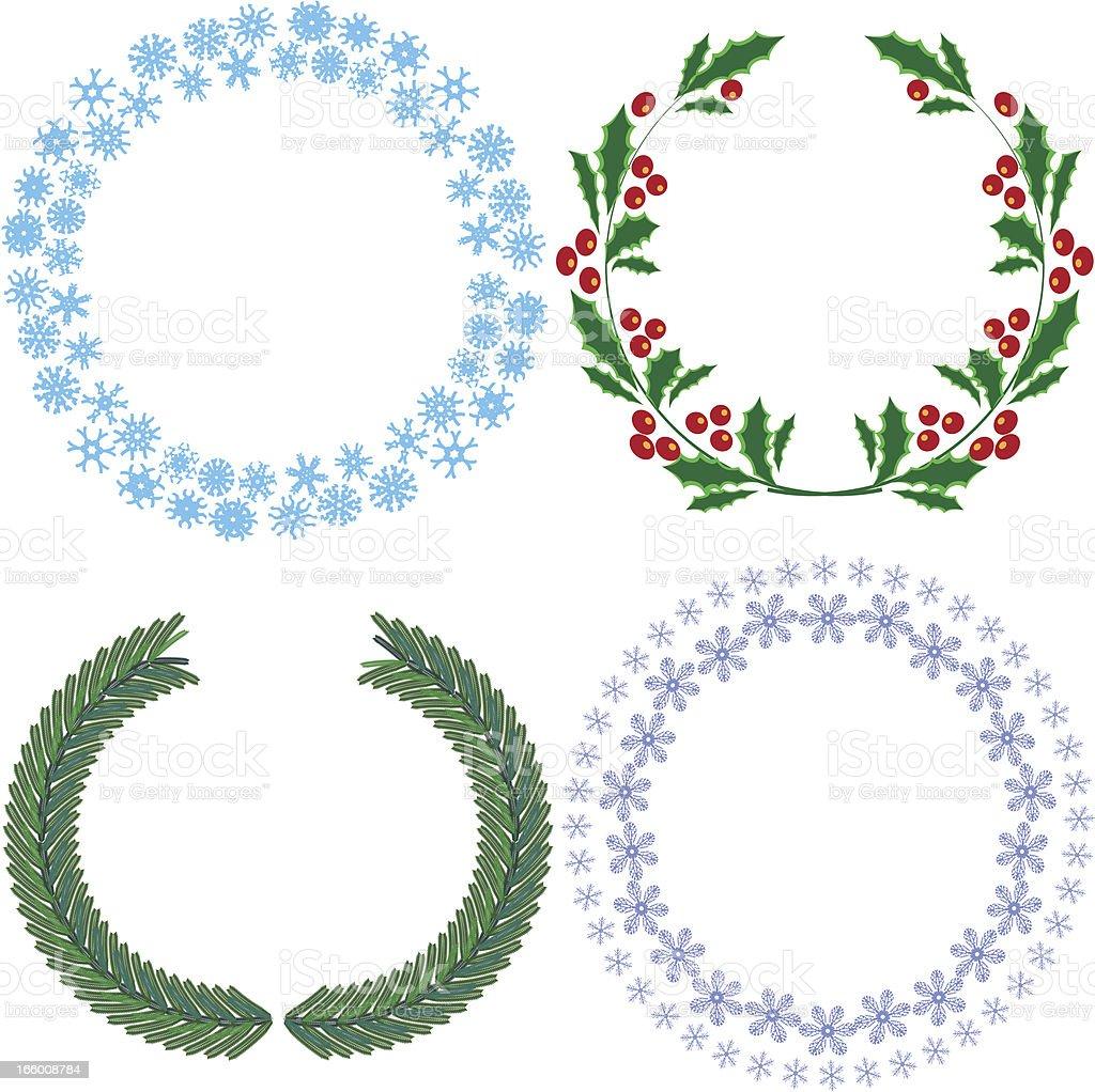 Winter wreaths royalty-free stock vector art