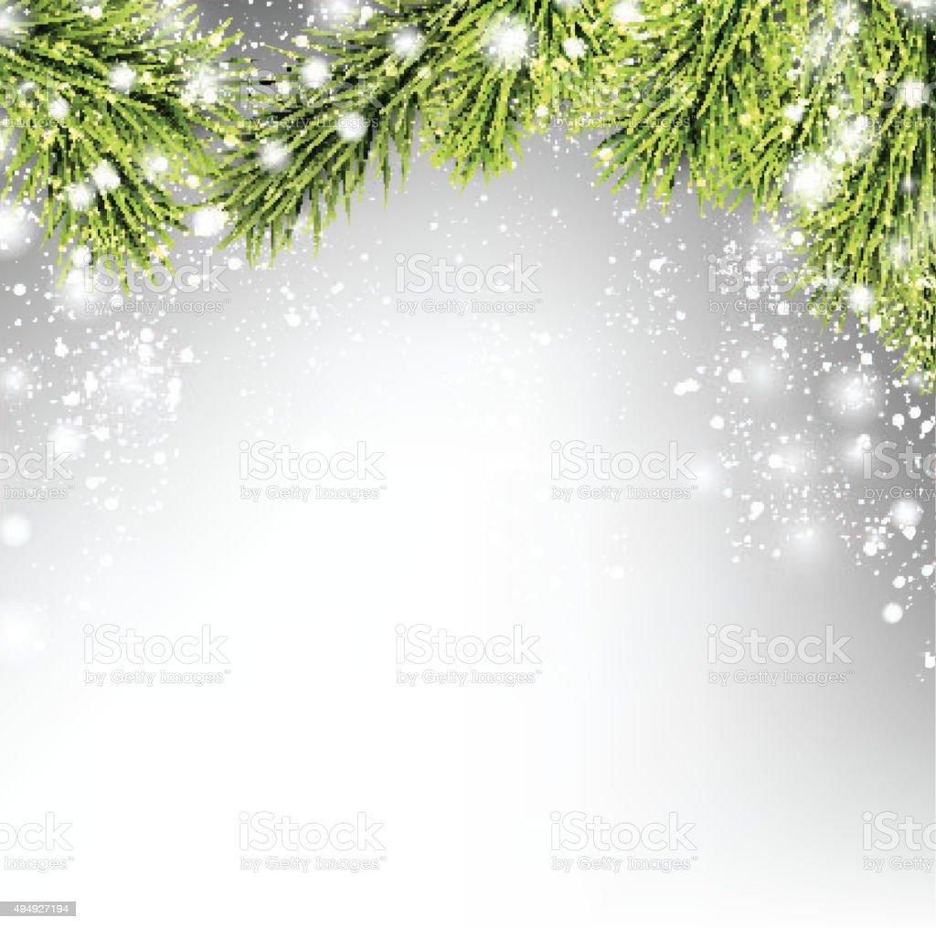 Winter xmas background vector art illustration