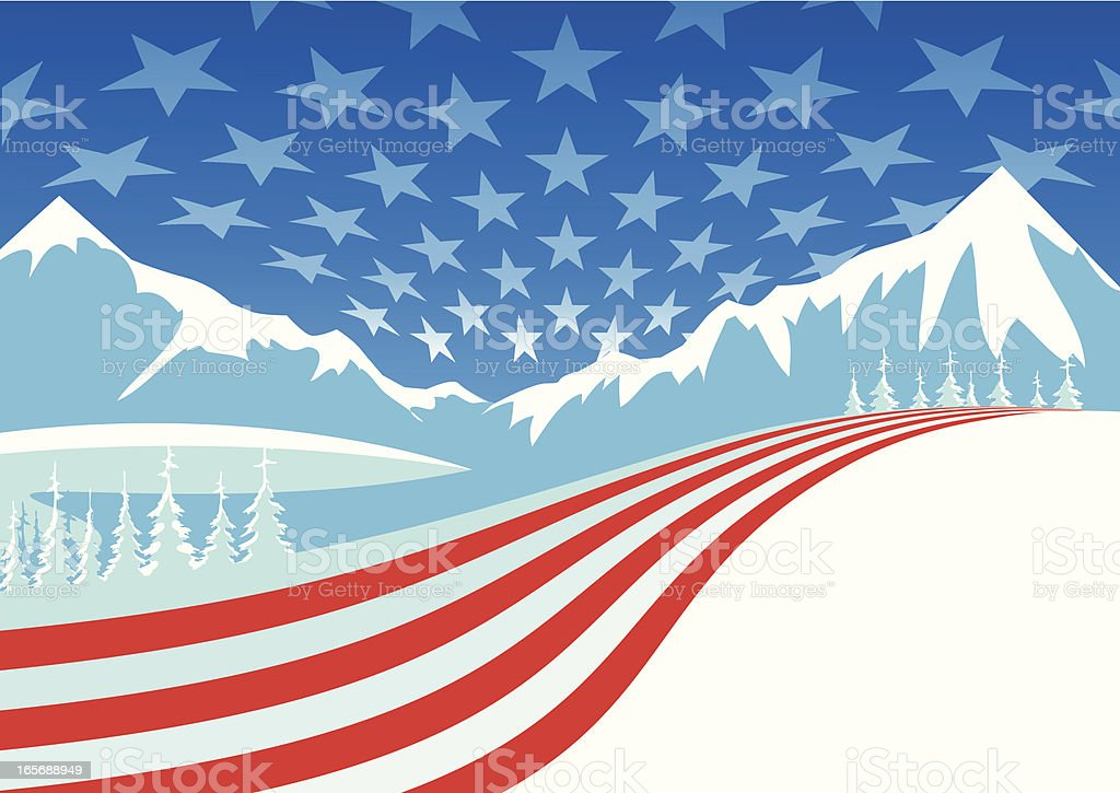 Winterly Stars & Stripes royalty-free stock vector art