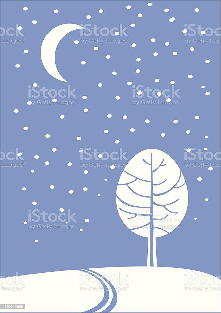 Winter's night royalty-free stock vector art