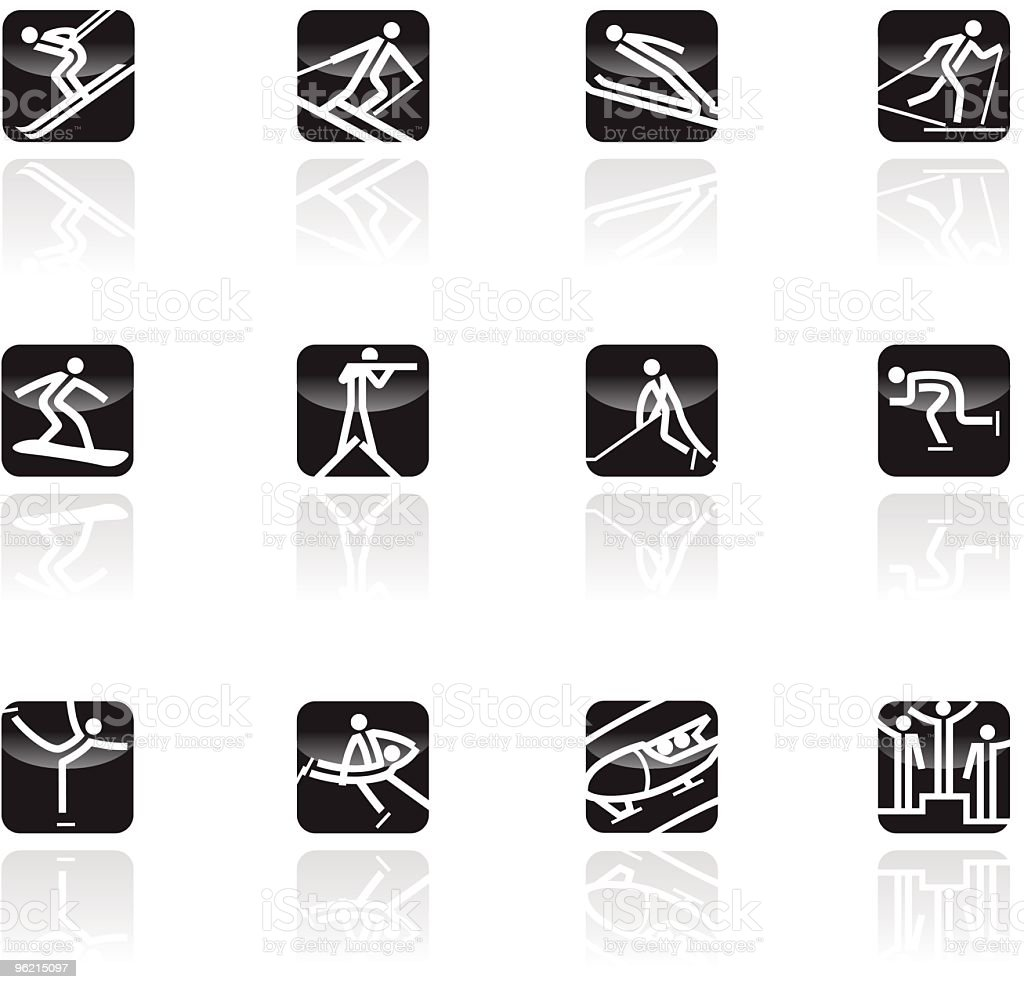 Wintersports icon set royalty-free stock vector art