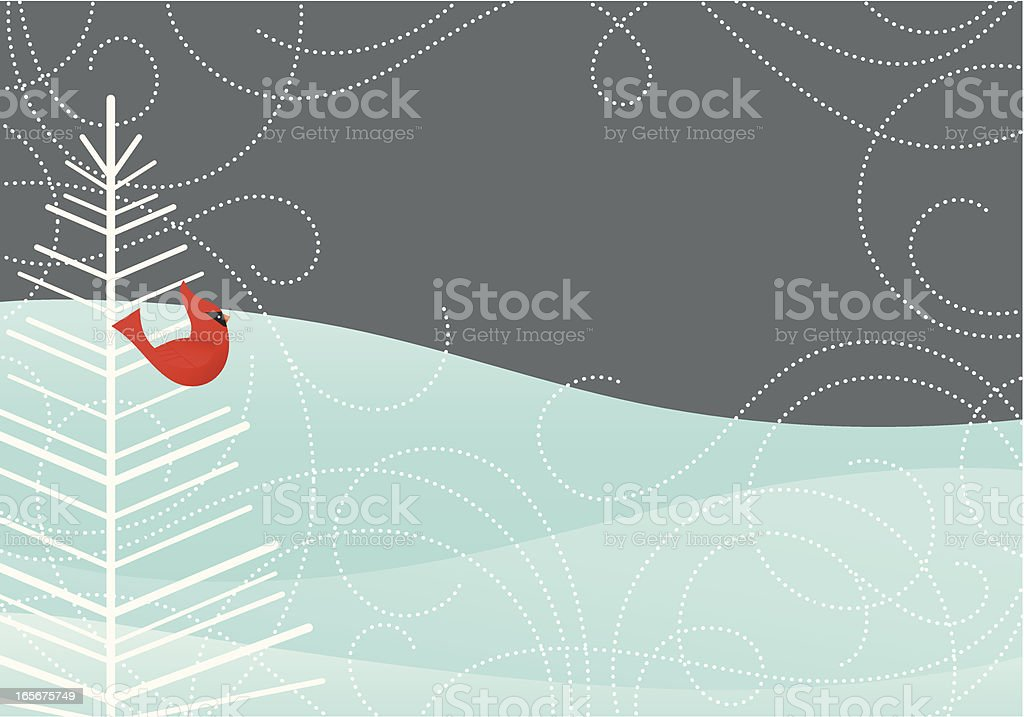 Wintry Night Scene royalty-free stock vector art