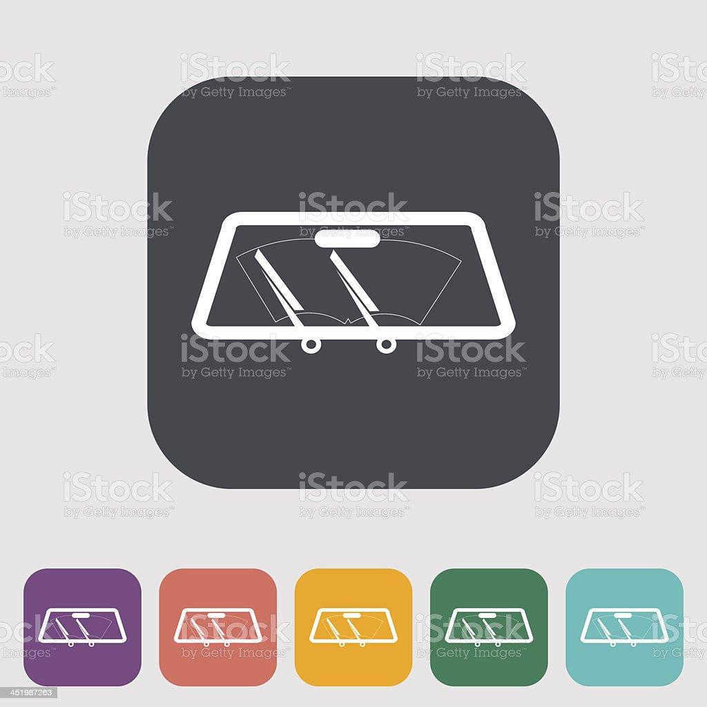Wiper car single icon. vector art illustration