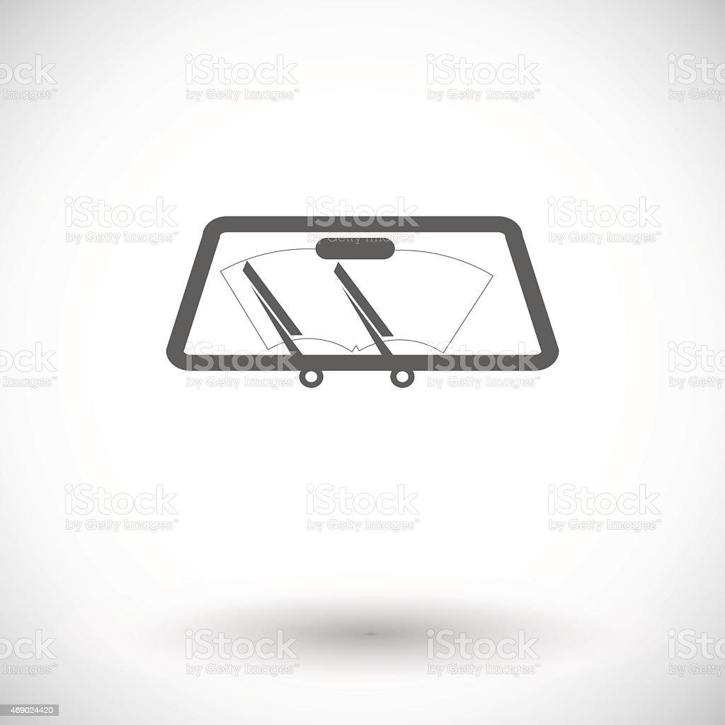 Wiper car single icon vector art illustration