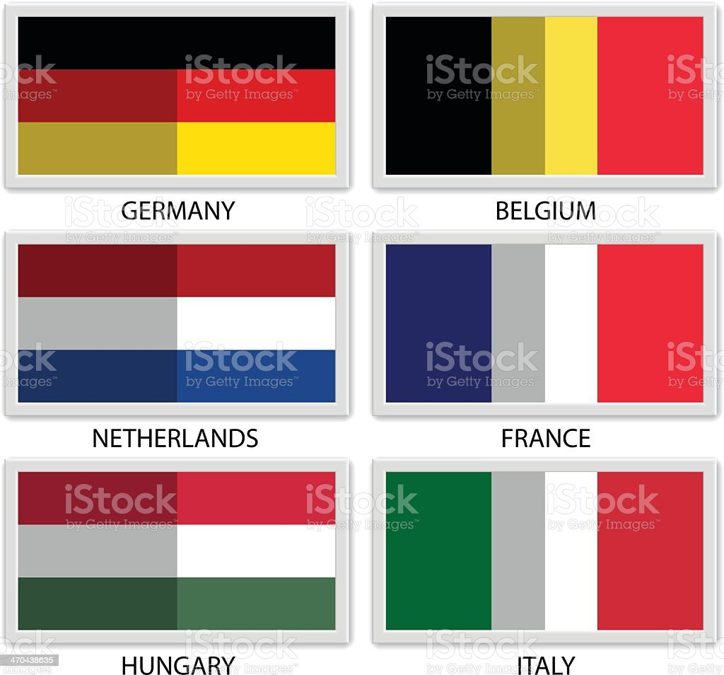 Wired frame flags royalty-free stock vector art