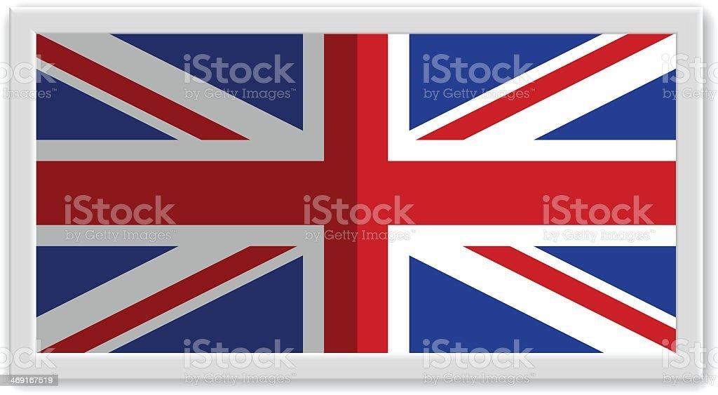 Wired frame UK flag royalty-free stock vector art