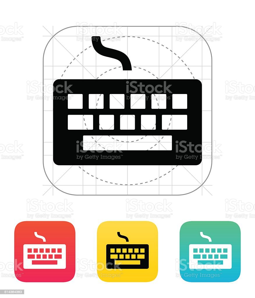 Wired Keyboard Icon stock vector art 514364383 | iStock