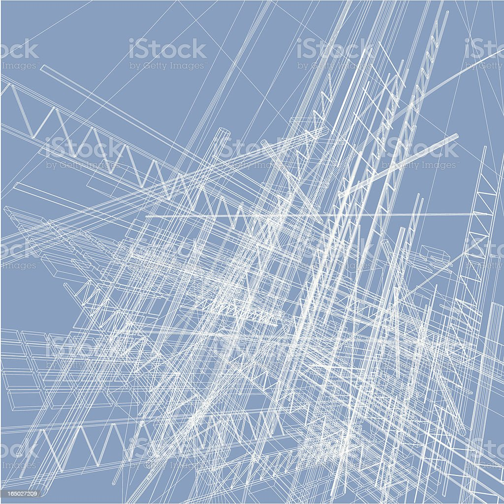 wireframe abstract royalty-free stock vector art