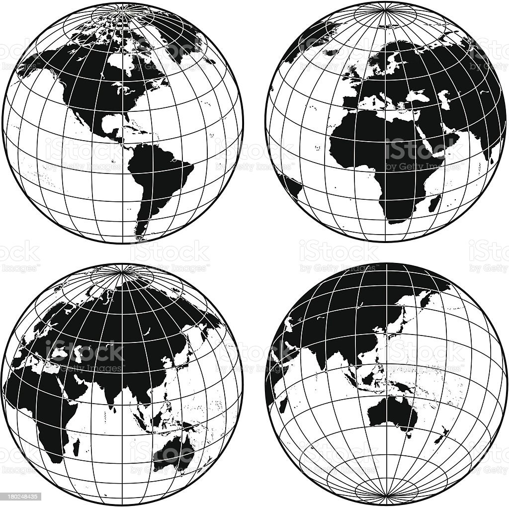 wireframe globes royalty-free stock vector art