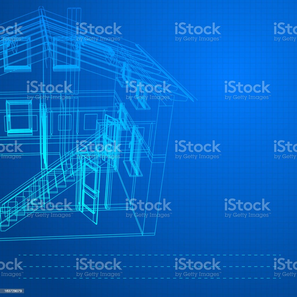 Wireframe of building royalty-free stock vector art