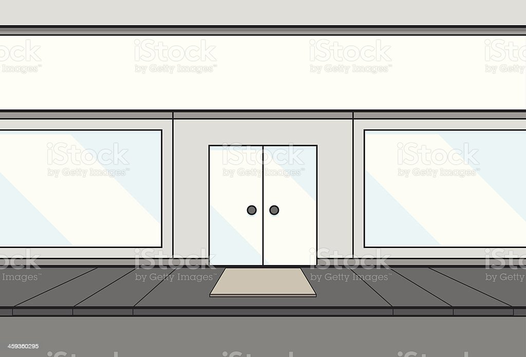 Wireframe shop vector art illustration