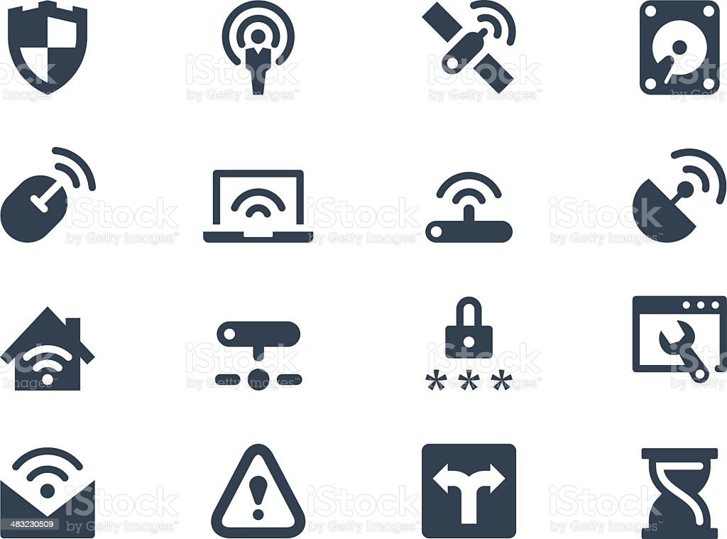 Wireless and network icons royalty-free stock vector art