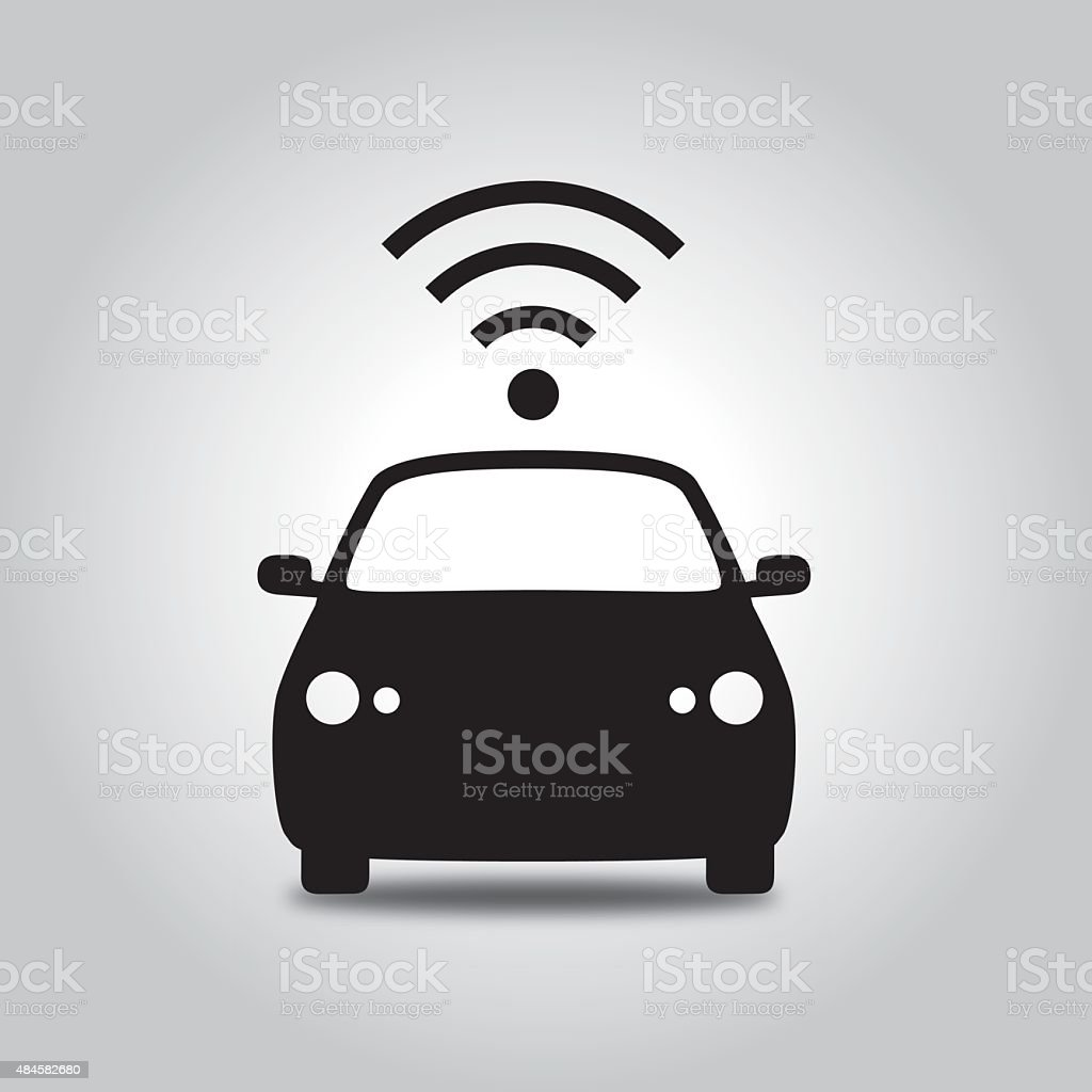 Wireless Car vector art illustration