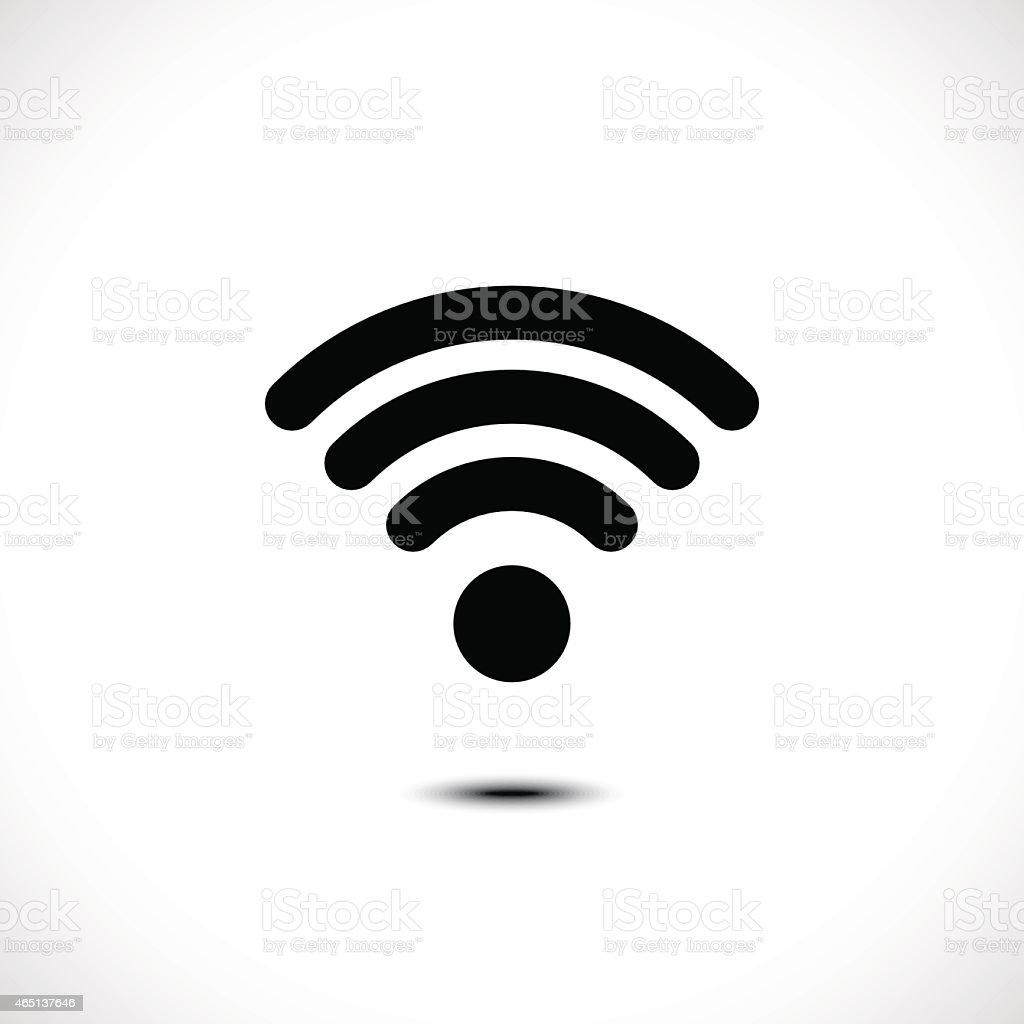 Wireless Icon vector art illustration