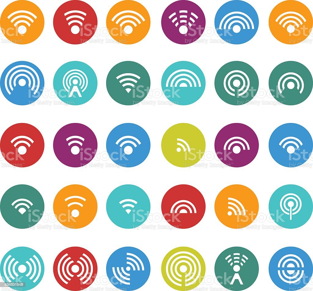 Wireless icon vector art illustration