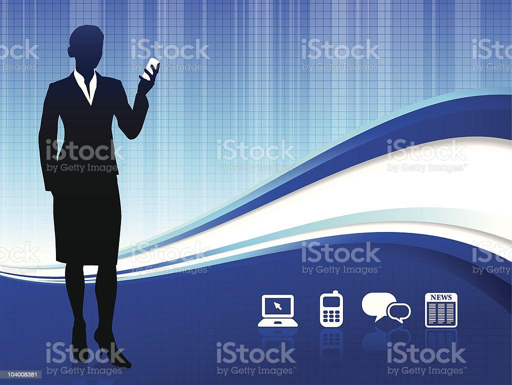 Wireless internet communication background royalty-free stock vector art