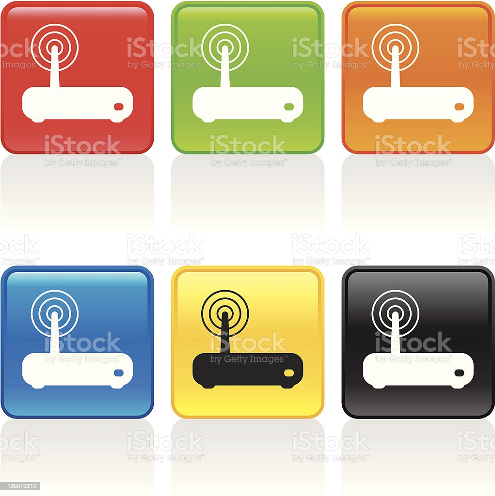 Wireless Modem Icon royalty-free stock vector art
