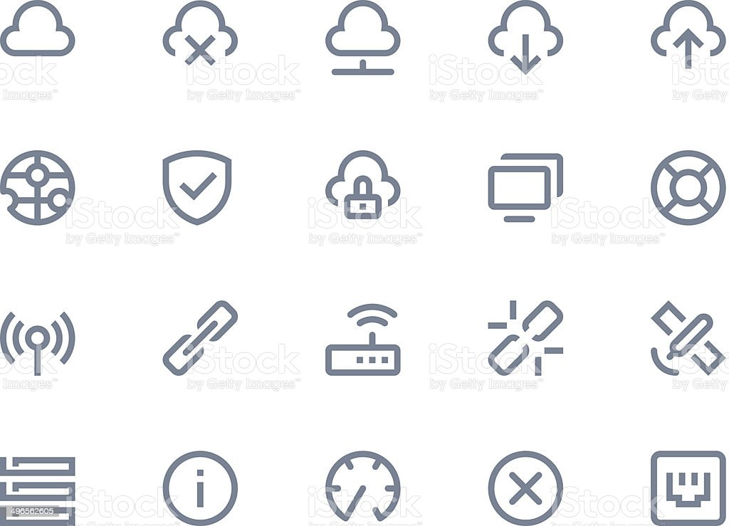 Wireless network icons. Line series royalty-free stock vector art