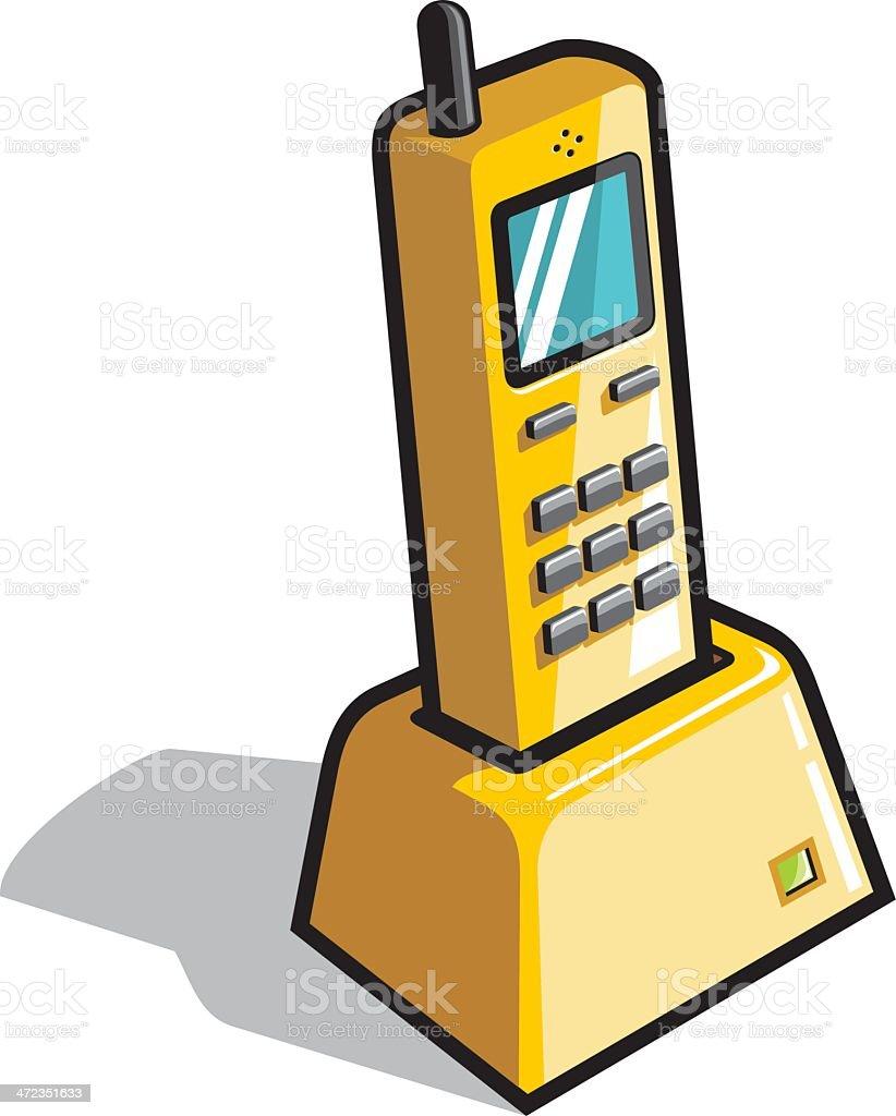 wireless phone royalty-free stock vector art