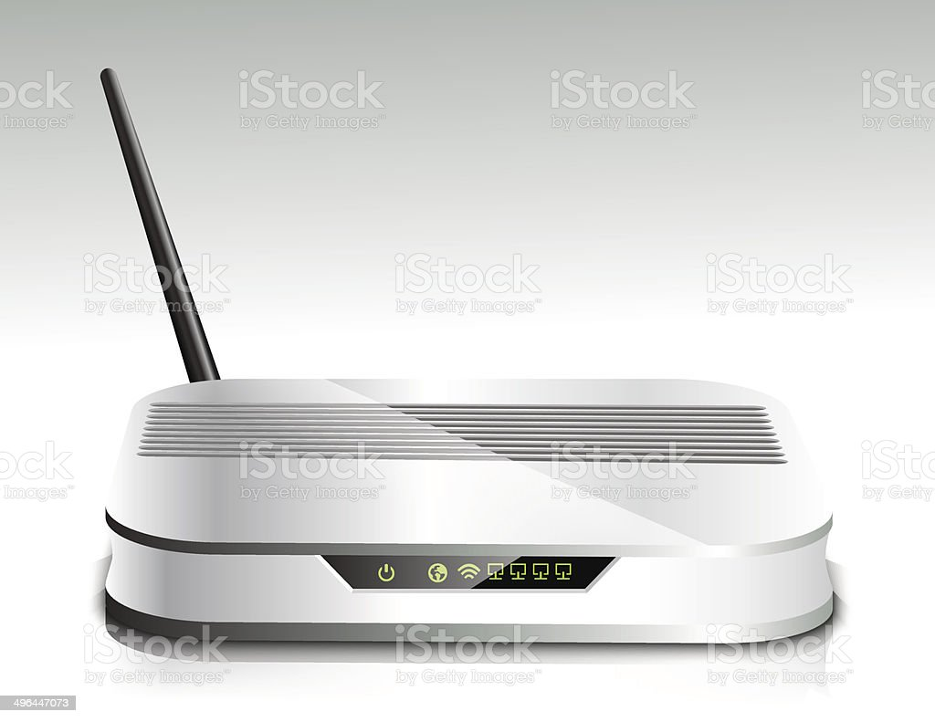 Wireless router royalty-free stock vector art