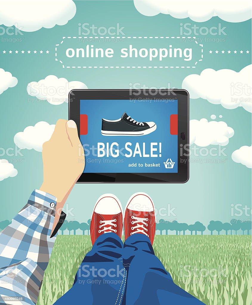 Wireless shopping royalty-free stock vector art