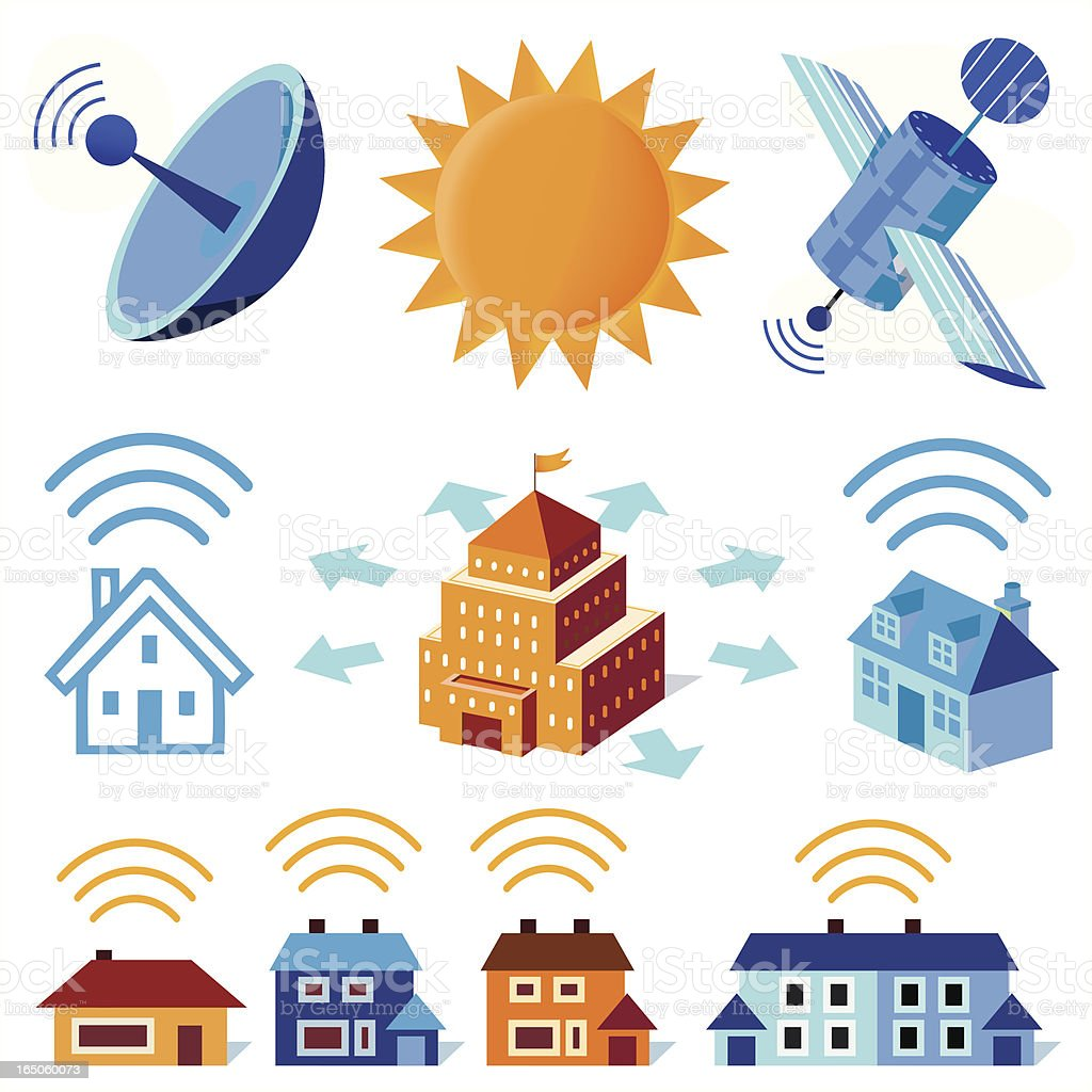 Wireless Signals royalty-free stock vector art