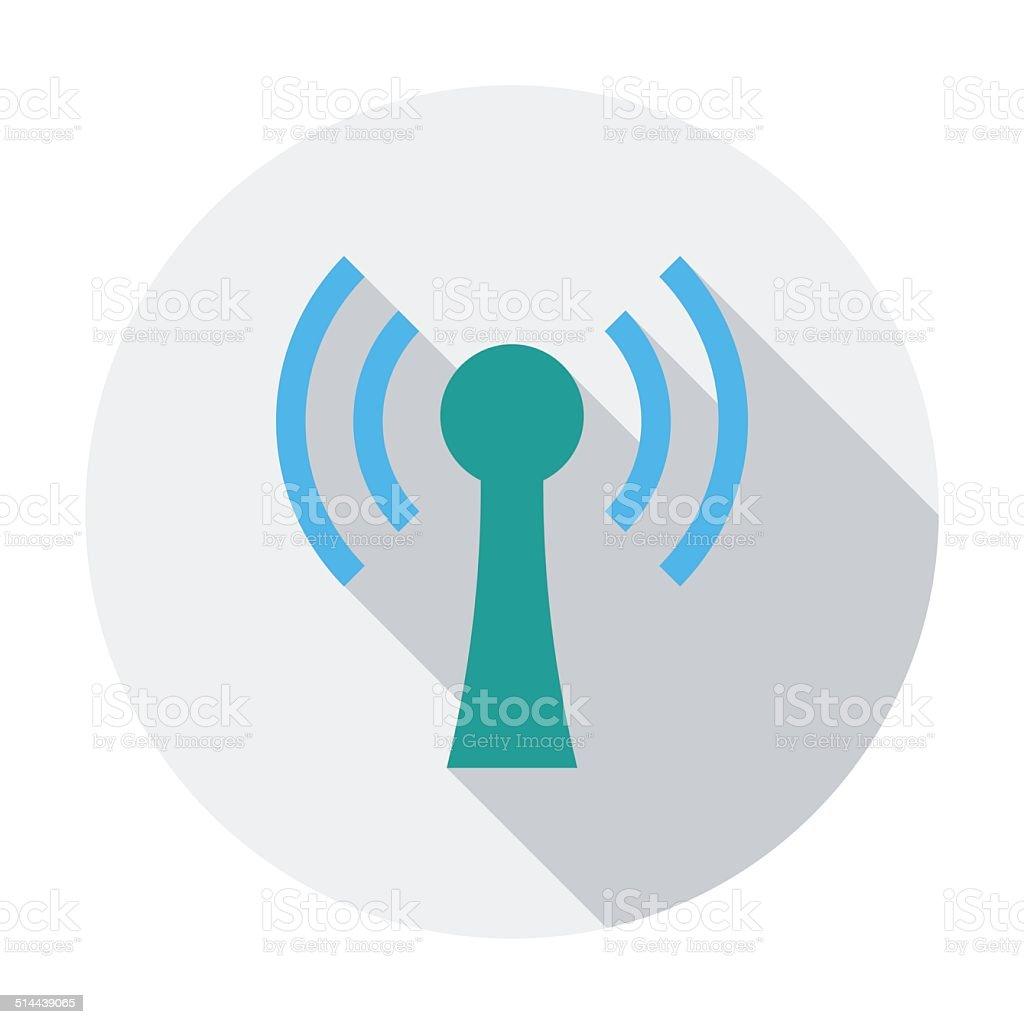 Wireless single flat icon vector art illustration