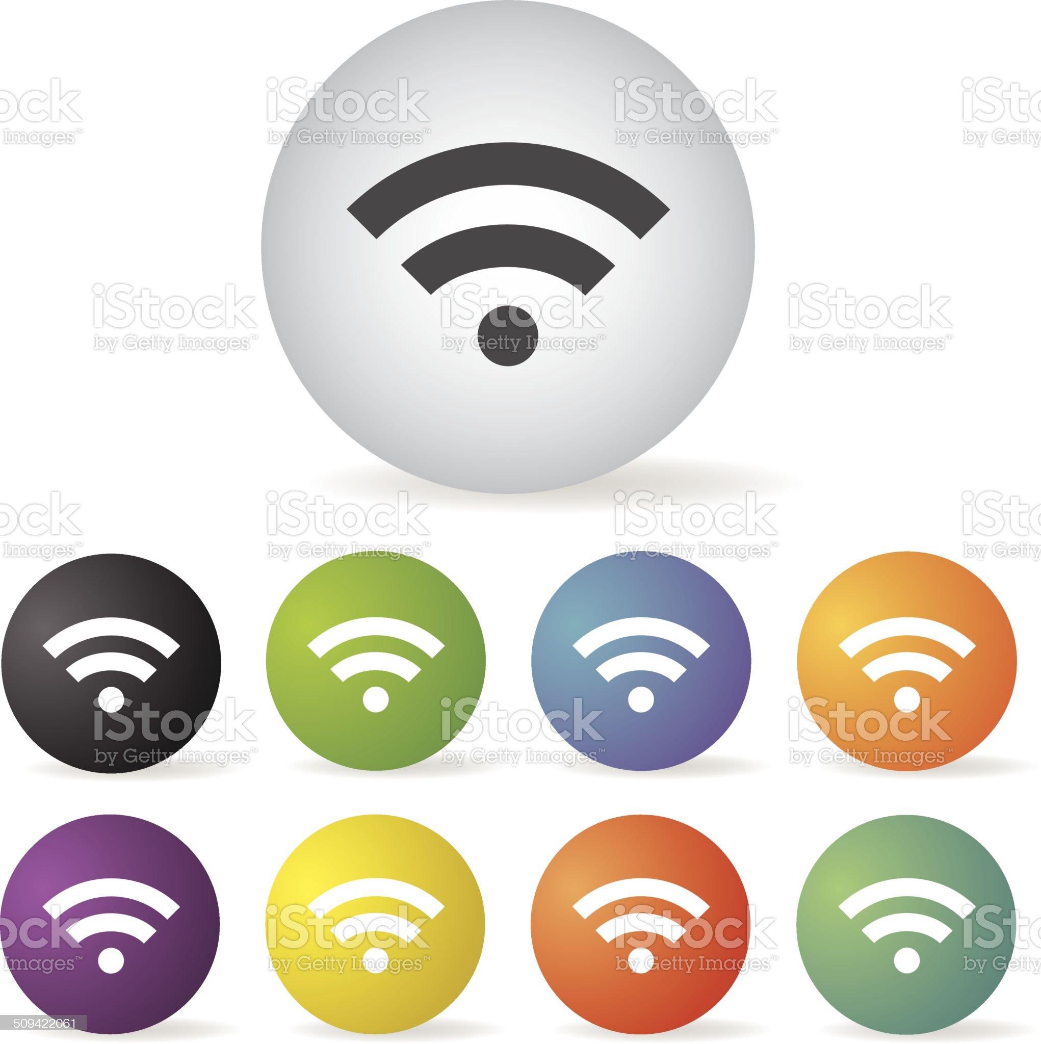 wireless  symbol set royalty-free stock vector art