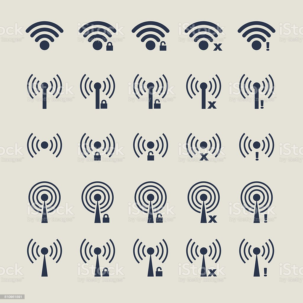 Wireless Variations Vector Icon vector art illustration