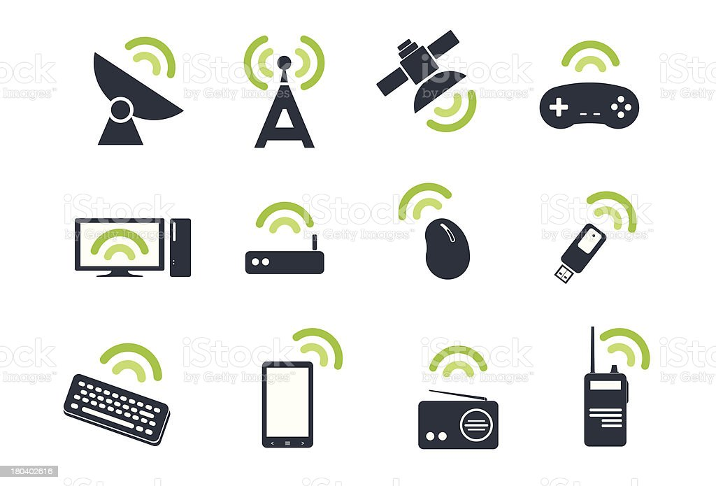 Wireless vector icon royalty-free stock vector art