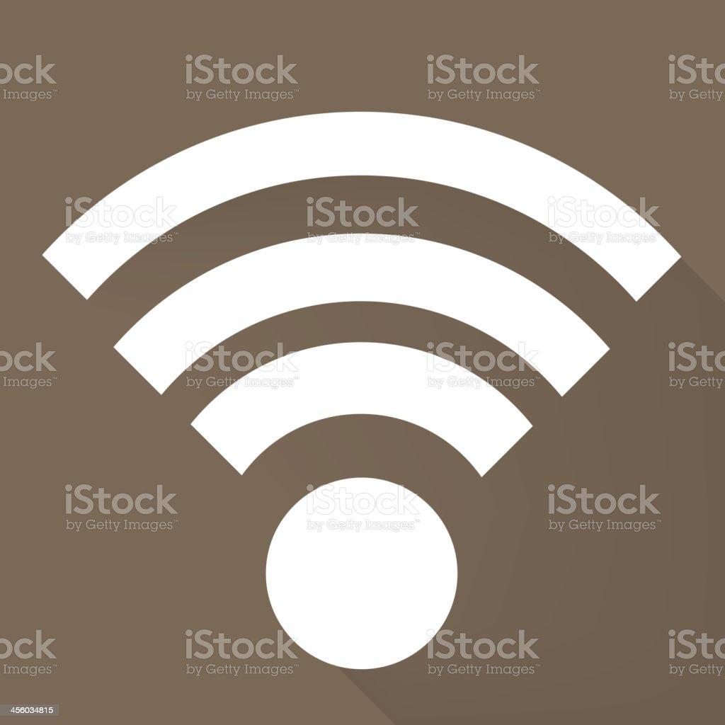 Wireless web icon royalty-free stock vector art