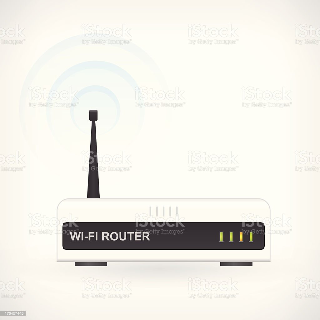 Wireless wi-fi router icon royalty-free stock vector art