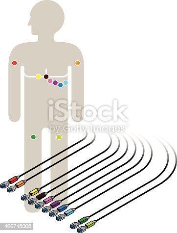 ecg ekg wiring diagram stock vector art 466745008 istock