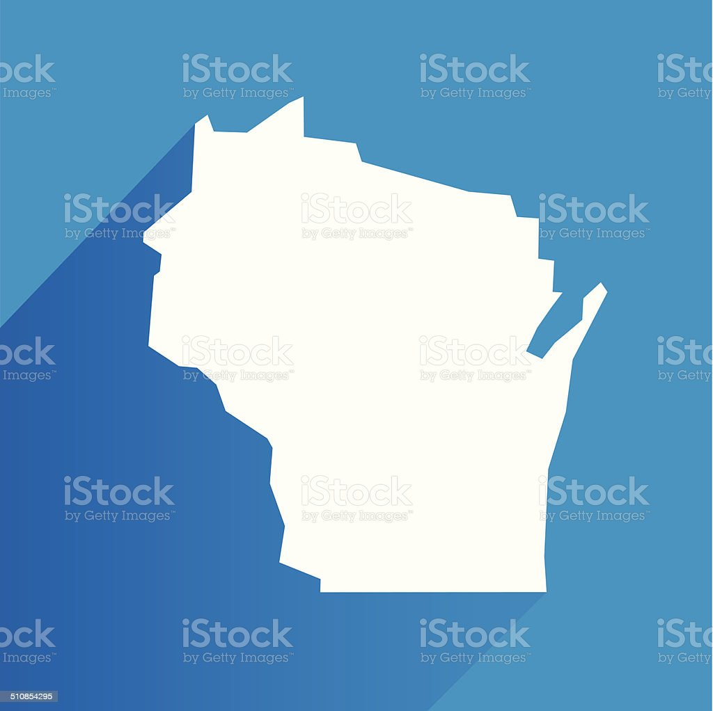 Wisconsin Icon vector art illustration