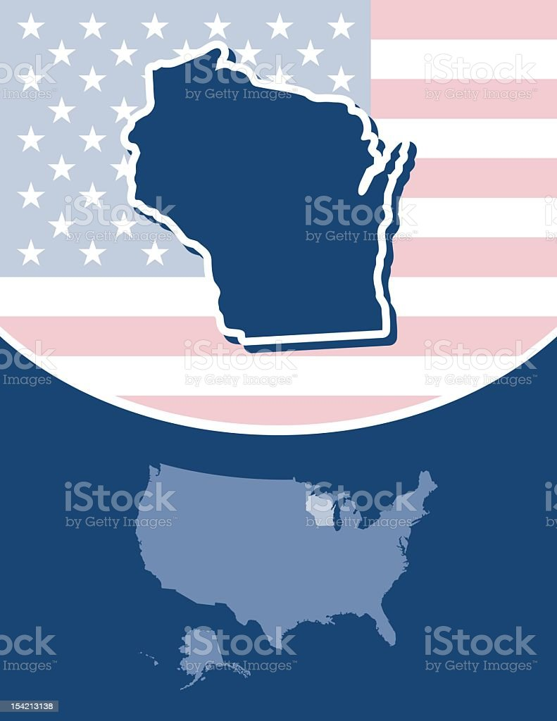 Wisconsin state series royalty-free stock vector art