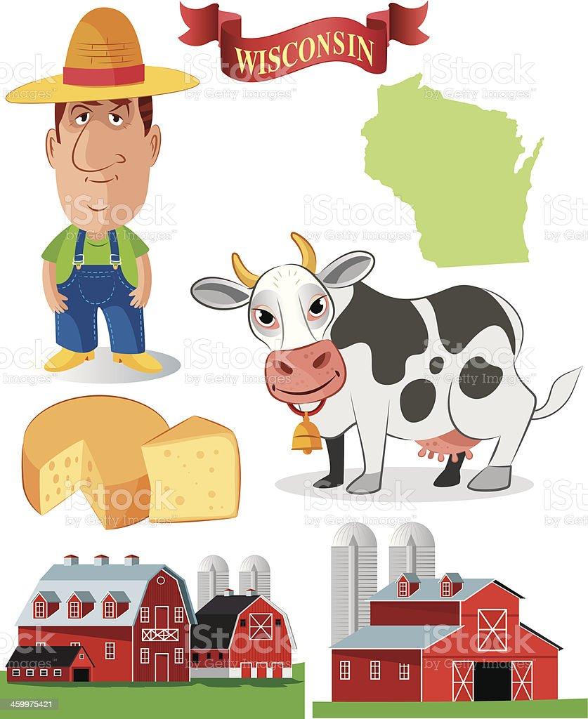 Wisconsin Symbols royalty-free stock vector art