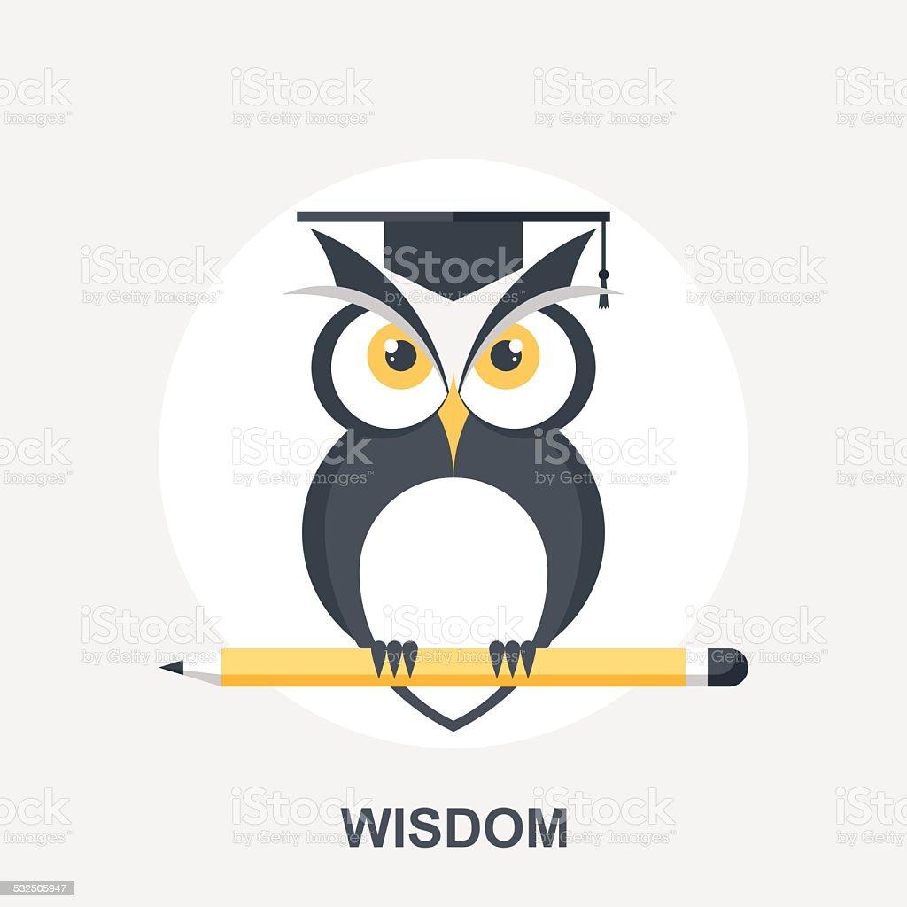 Wisdom vector art illustration