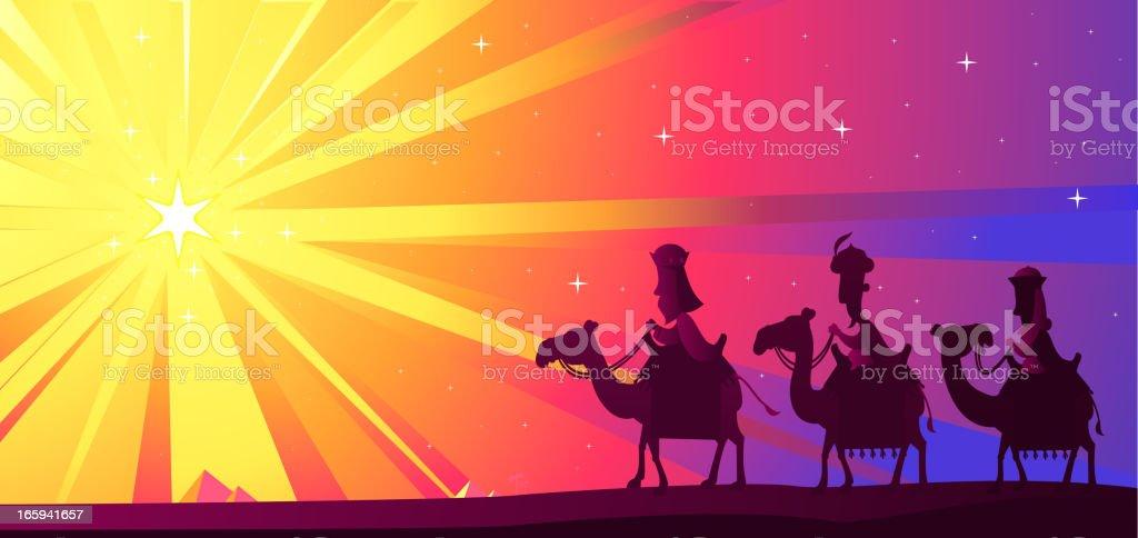 Wise kings LSD royalty-free stock vector art