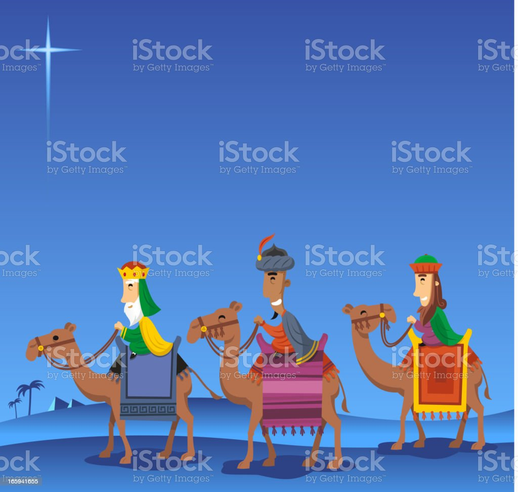 Wise kings night royalty-free stock vector art