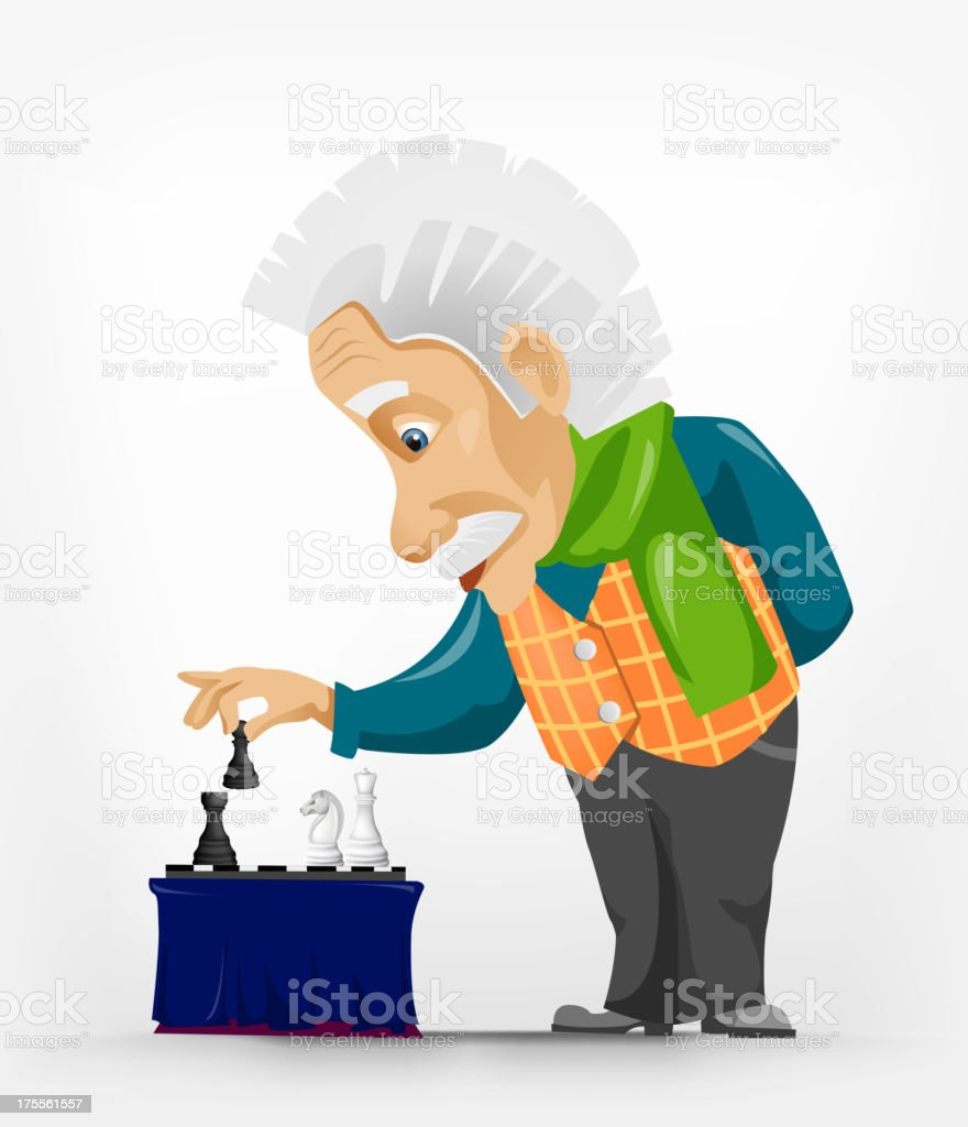 Wise Old Man royalty-free stock vector art