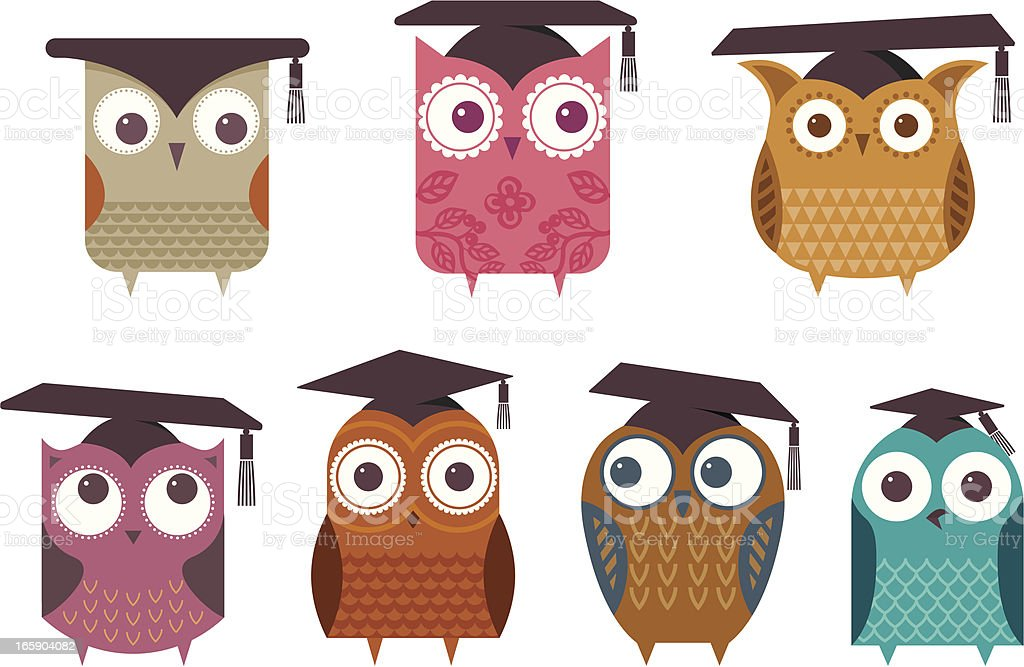 Wise owls royalty-free stock vector art