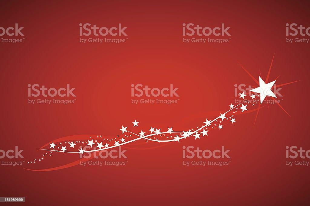 Wishing upon a shooting star vector art illustration