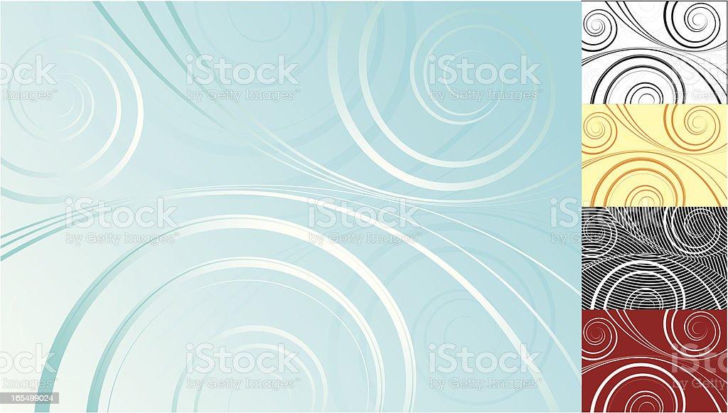 Wisps and Spirals vector art illustration