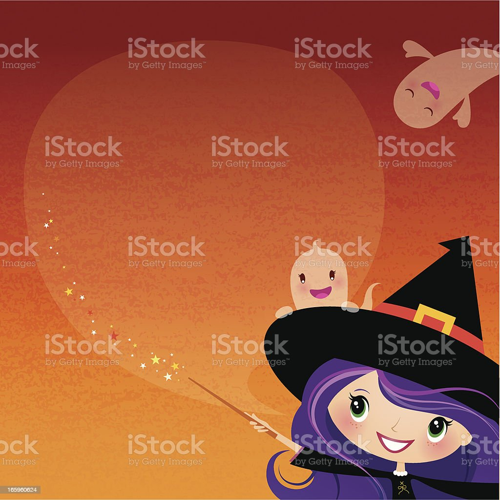 Witch announcement royalty-free stock vector art
