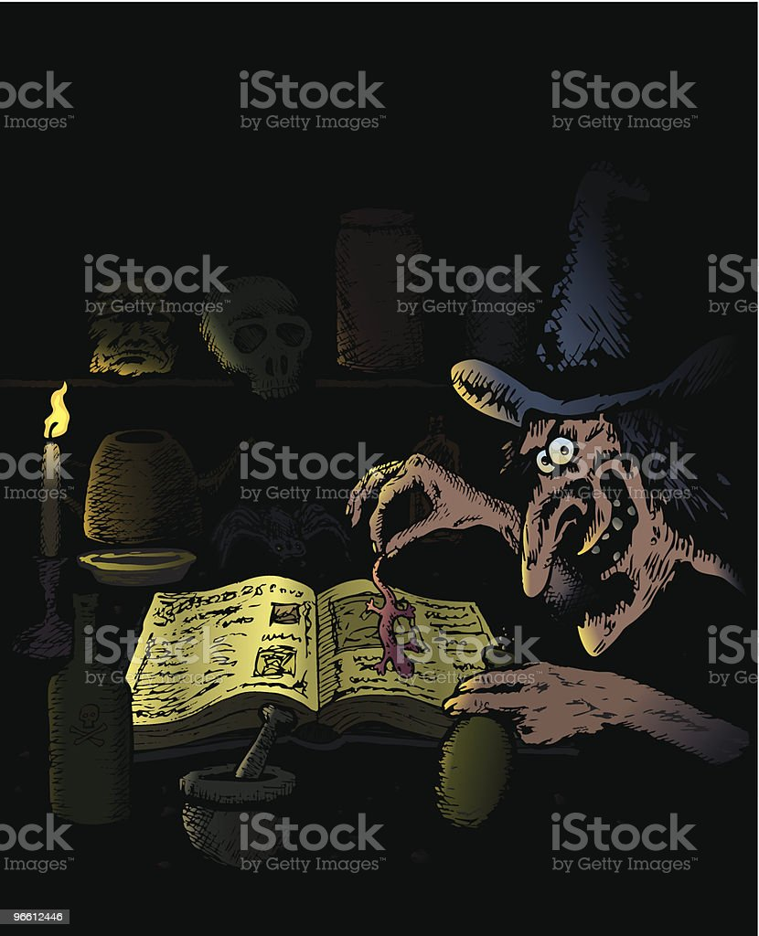 Witch cookery royalty-free stock vector art