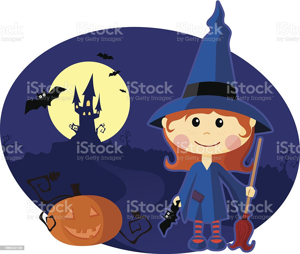witch girl royalty-free stock vector art