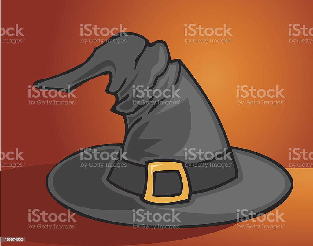 Witch Hat Card royalty-free stock vector art