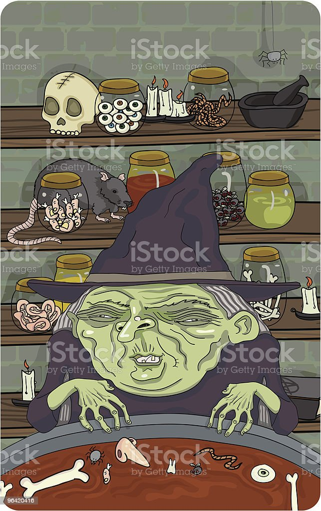 Witch's Brew vector art illustration