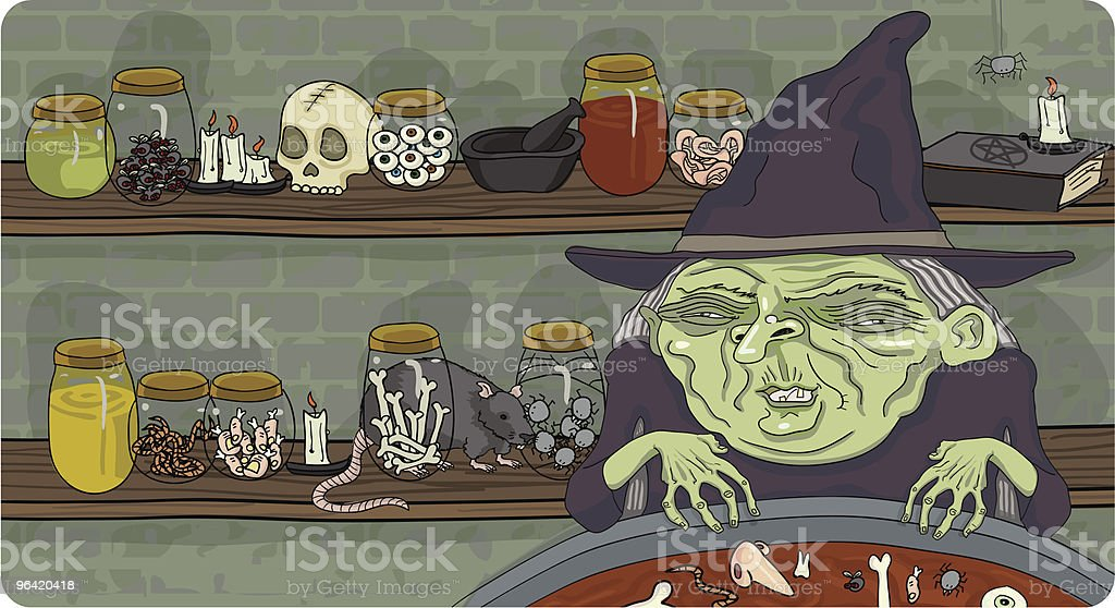 Witch's Brew royalty-free stock vector art