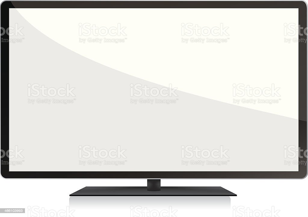 LCD TV with blank screen royalty-free stock vector art